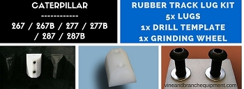 RUBBER TRACK LUG KIT FOR  CATERPILLAR 287B / 277B / 267B / 287 / 277 / 267