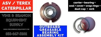 GREASEABLE OUTBOARD BEARING ASSEMBLY KIT  ASV / TEREX / CATERPILLAR