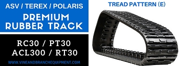 PREMIUM Steel Cord RUBBER TRACK  ASV / TEREX / RC30 / PT30 / POLARIS ACL300 / R070T / RT30 / RT30 (TREAD PATTERN E)