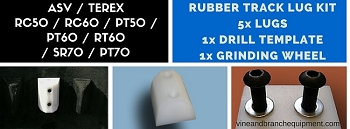 RUBBER TRACK LUG KIT FOR  ASV / TEREX / RC50 / RC60 / PT50 / PT60 / RT60 / R190 / R160 / R160T