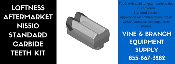 REPLACEMENT LOFTNESS N15510 STYLE DOUBLE CARBIDE TOOL / TEETH KIT (x10)