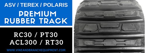 PREMIUM RUBBER TRACK  ASV / TEREX / RC30 / PT30 / POLARIS ACL300 / R070T / RT30 / RT30 (TREAD PATTERN B)