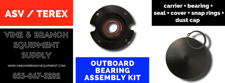FACTORY UPGRADED OUTBOARD BEARING ASSEMBLY KIT  ASV / TEREX / CATERPILLAR