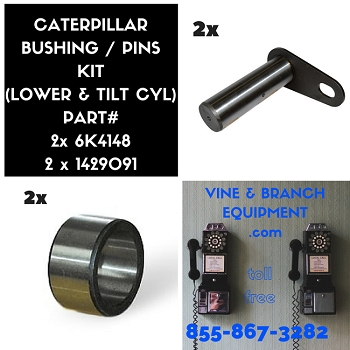 CATERPILLAR BUCKET PIN & BUSHING  (LOWER & TILT) KIT