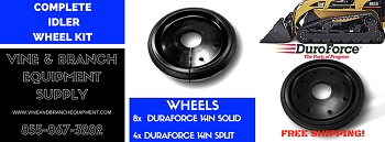 COMPLETE FRONT or REAR OEM STYLE IDLER WHEEL KIT / ASV / CATERPILLAR / 267 / 277 / 277B /  RC100 / RC85 / RCV / 287 / 287B