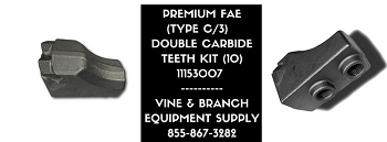 FAE (TYPE C)  REPLACEMENT DOUBLE CARBIDE TOOL KIT (x10)   2 bolts