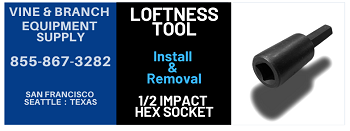 LOFTNESS  TOOL / TEETH  INSTALL AND REMOVAL HEX IMPACT SOCKET