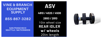 REAR IDLER  20in (long) w/ 10IN  WHEELS  / ASV / 4810 / 2810 / 4500 / 4520 /